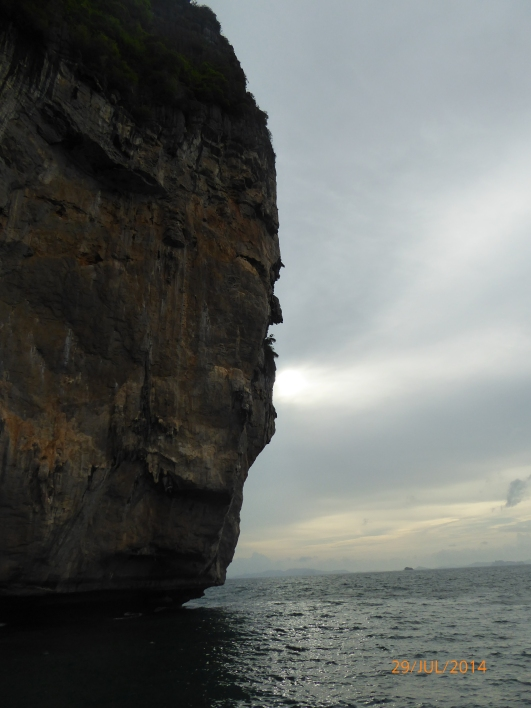 Approaching the cave